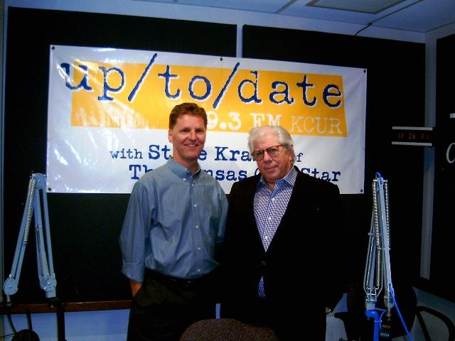 Steve Kraske and Watergate reporter Carl Bernstein in 2007