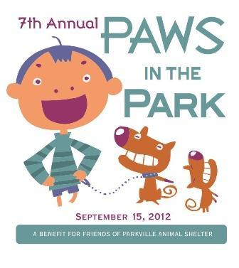 Paws in the Park Dog Walk Festival Saturday morning in Parkville's English Landing Park.