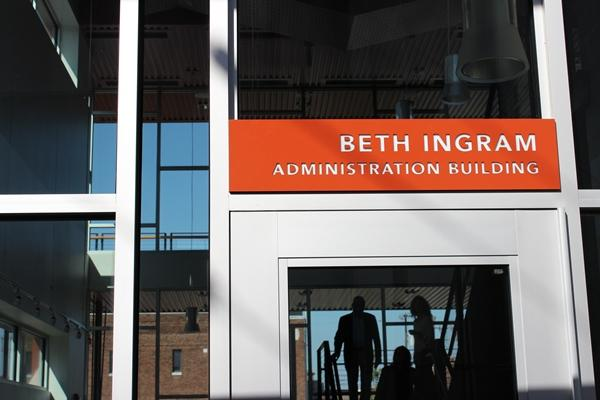 The administration building is named for patron Beth Ingram.