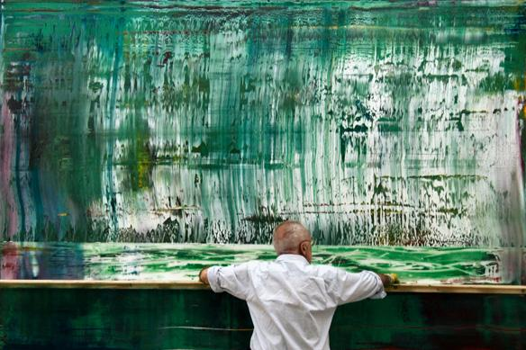 "A scene from ""Gerhard Richter Painting."" a documentary about one of the world's greatest artists. It's one of the films Up to Date's critics review on September 28."