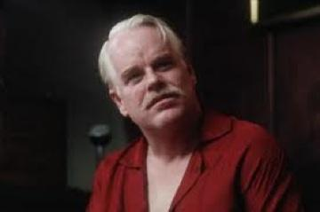 "Philip Seymour Hoffman as the cultish Lancaster Dodd in ""The Master"""