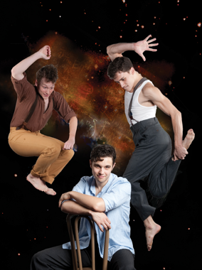 "Actors Noah Whitmore, Will Amato and Tyler Eisenreich from The Coterie's ""Spring Awakening"""