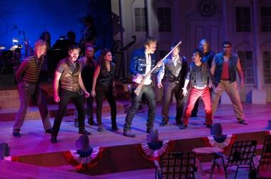 "Cast of ""Bloody Bloody Andrew Jackson"" doing ""I'm So That Guy."""