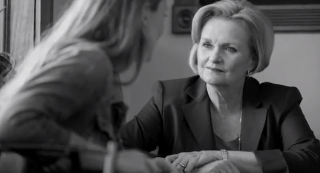 Claire McCaskill in a campaign ad.