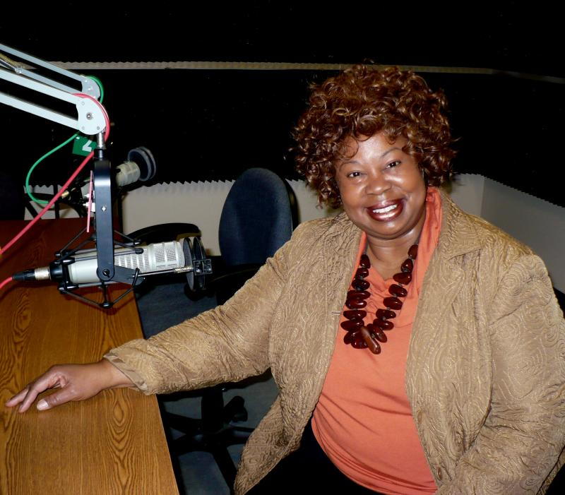 Jazz singer Deborah Brown at the KCUR studios.
