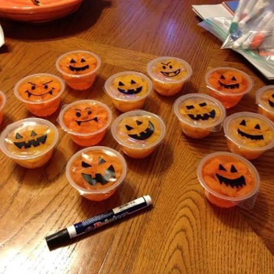 Listener Riki sent this photo of what she gives out on Halloween - individual fruit cups