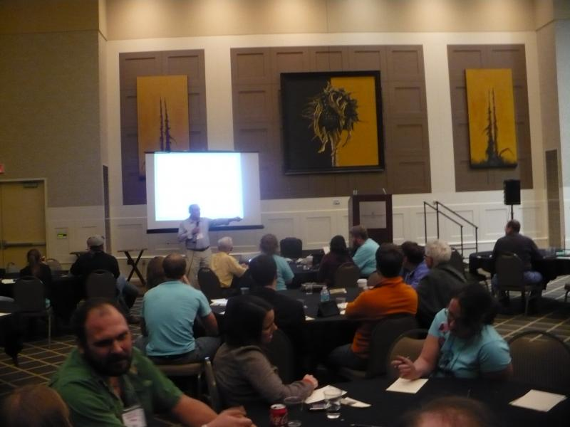 Dr. Darrell Ray leads workshop at atheist convention.