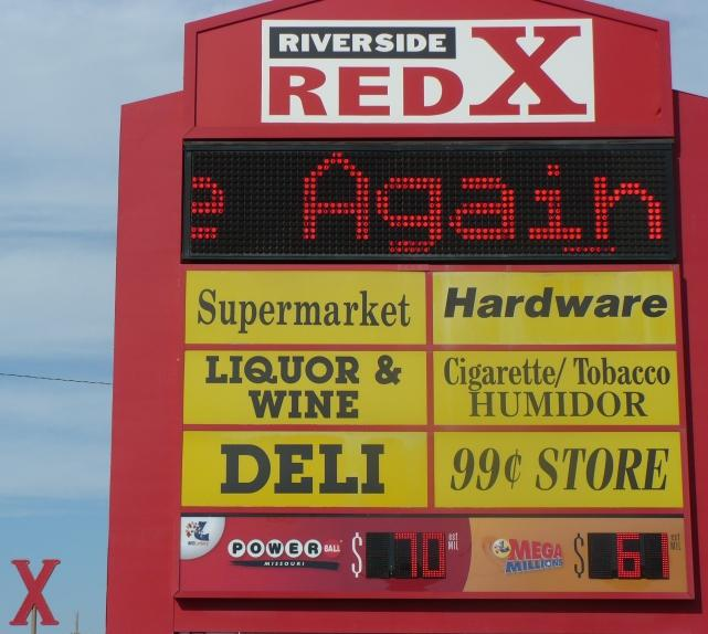 The Red X sign in Parkville.