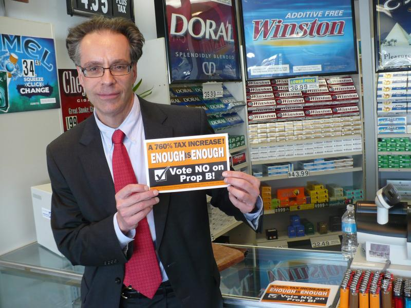 Ron Leone, head of the state's Petroleum Marketers and Convenience Store Association, says raising the cigarette tax is a bad idea for businesses like this one, consumers, and the state.