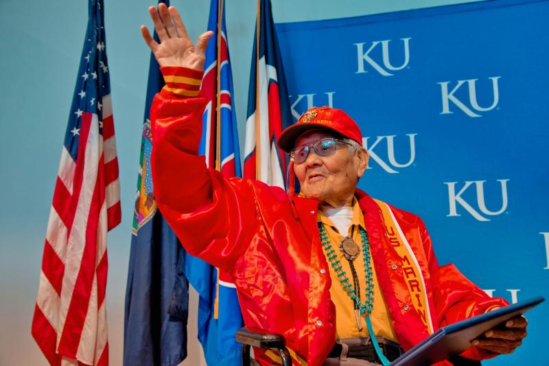 Former Navajo Code Talker Chester Nez received honorary diploma.