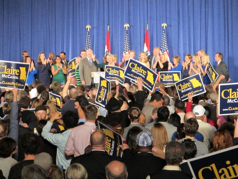 Senator Claire McCaskill's victory speech last night in St. Louis.
