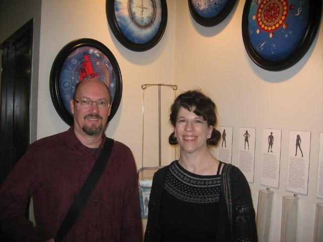Bruce Scherting and Marguerite Perret, collaborators in The Drop-In/Pop-Up Waiting Room Project at the Spencer Museum of Art.