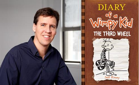 Jeff Kinney, author of Diary of a Wimpy Kid.