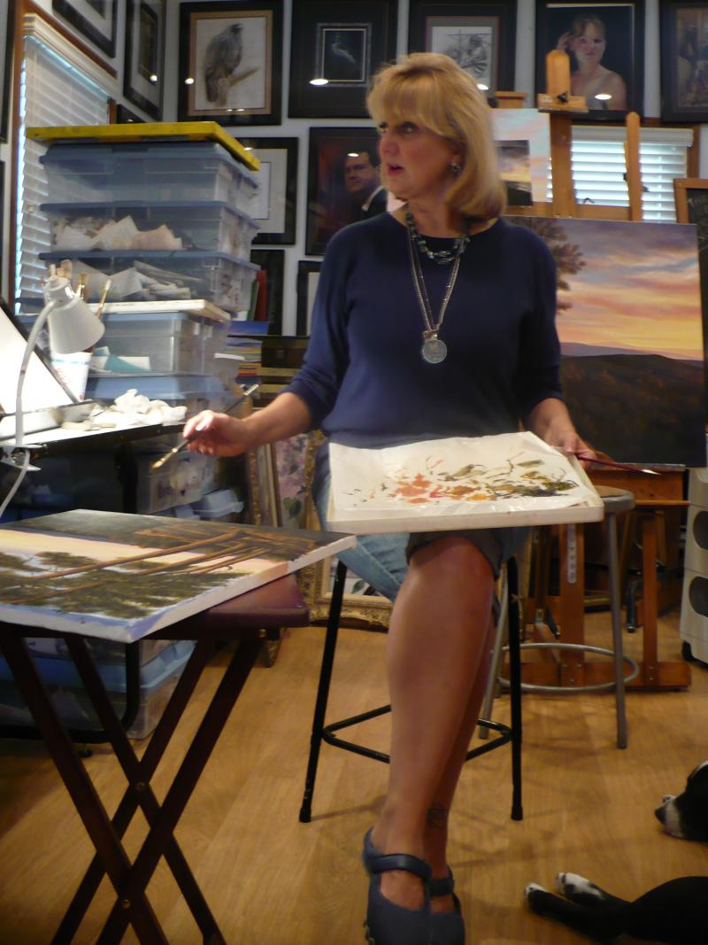 Lee teaches painting and drawing classes out of her home studio in Overland Park.