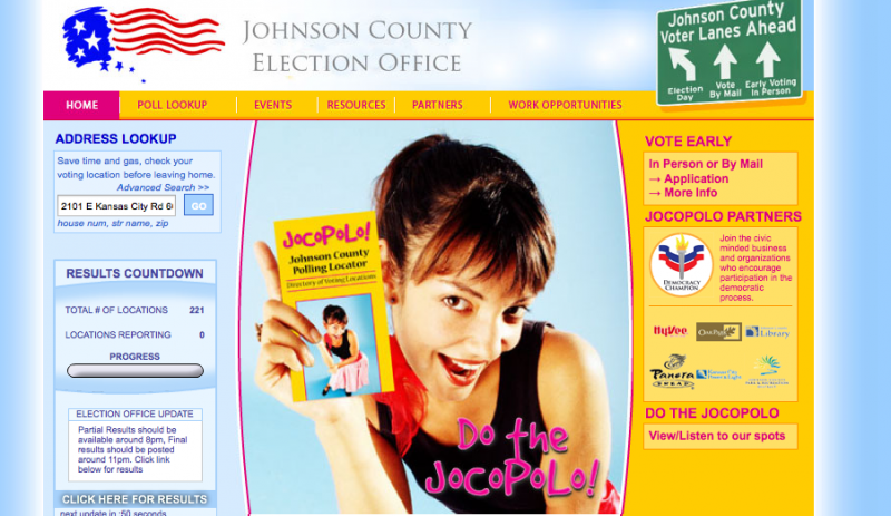 A website helps voters find their Johnson County polling places.