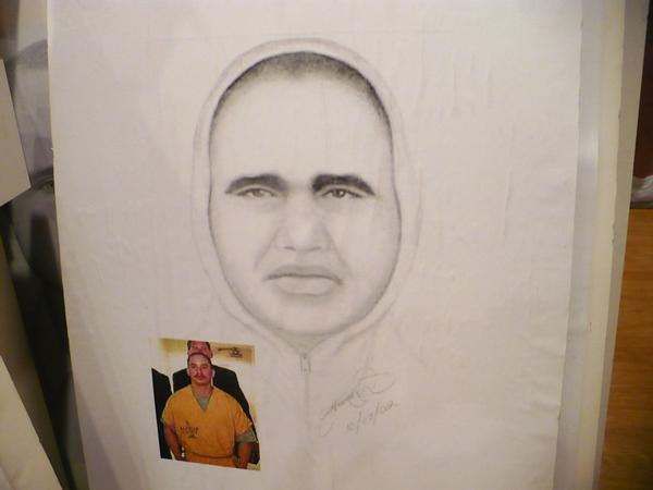 A drawing commissioned by America's Most Wanted of suspect Henry Paul Inocencio in the murder of Robert Ratto.