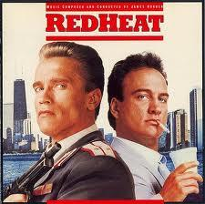 Arnold Schwarzenegger and Jim Belushi star in Columbia Pictures' Red Heat.