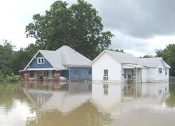 Flooding in Coffeyville, Kan.