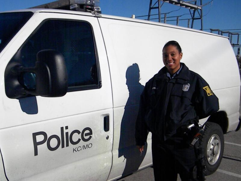 KCMO Police Officer Wright and her wagon