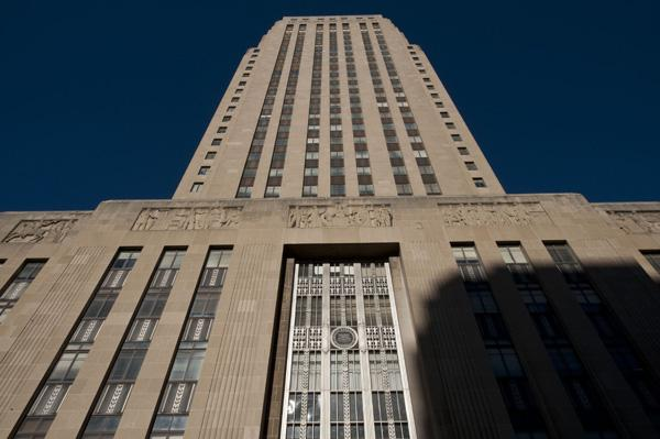 The  29-story Beaux-Arts skyscraper was built in 1937 during the Pendergast era.