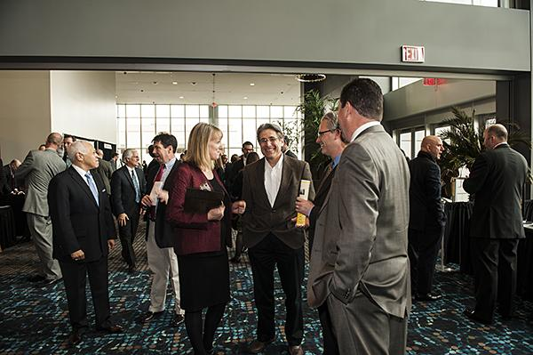 Crowds gather in the exhibition area before the 2012 Downtown Council Annual Luncheon.