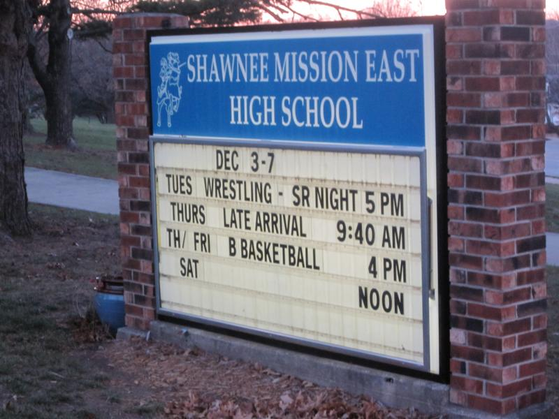 Shawnee Mission East High School.