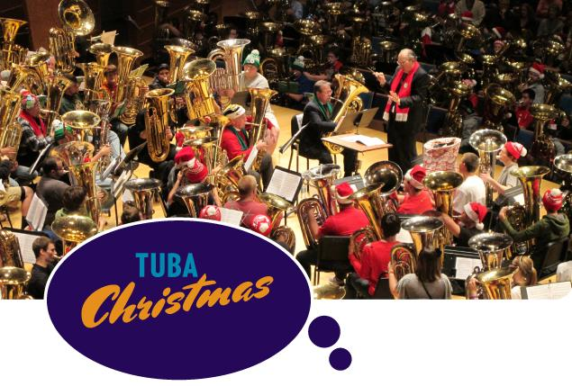 "Helzberg Hall fills with lower brass Thursday and Friday for ""Tuba Christmas"""
