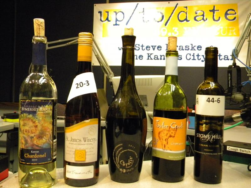 A lineup of the wines Doug Frost sampled with the Up to Date team