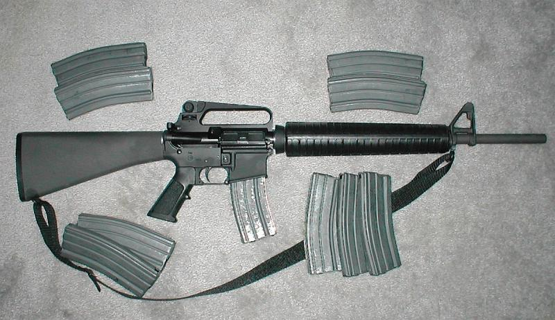 The gun that was used in the Newtown, Conn. shootings.