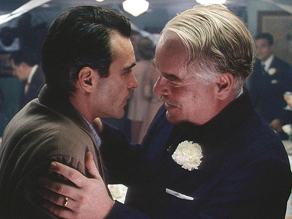 "Joaquin Phoenix and Philip Seymour Hoffman in ""The Master,"" the Kansas City Film Critics Circle's Best Film of 2012."