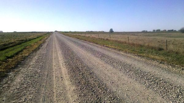 "A view of the open road. For Fortunato, ""there is tremendous satisfaction in locomotion over long distances."""