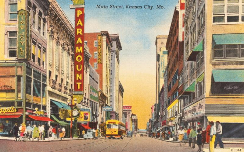 Early postcards were sent to brag about the bustling business, civic and cultural life Kansas City offered.
