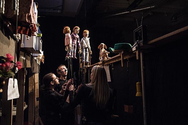 Multiple puppets call for multiple puppeteers.