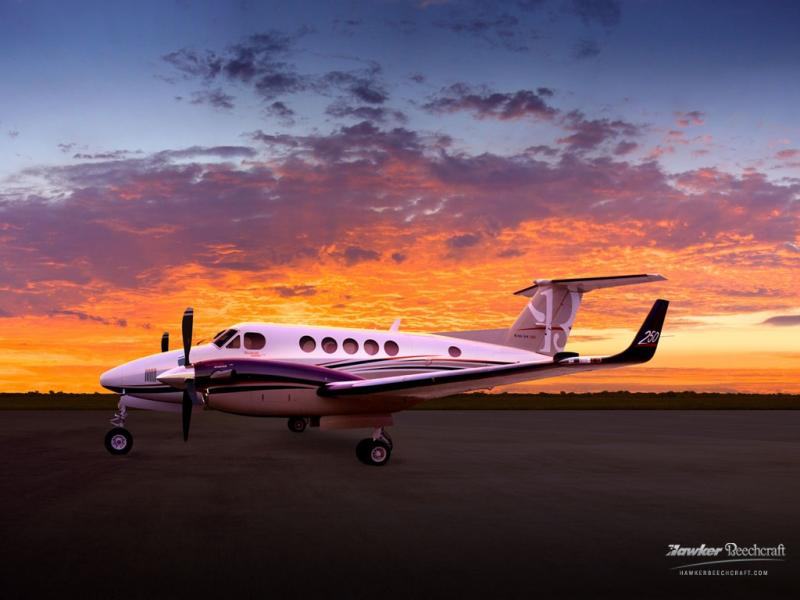 An example of a King Air 250 airplane -- the same type of aircraft purchased by the Missouri Highway Patrol in December.