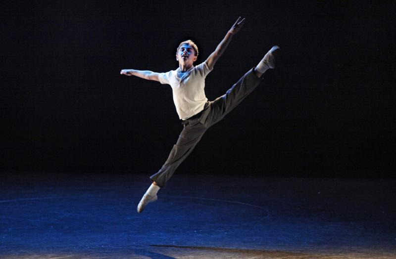 Noah Parets dances as the title character in Billy Elliot.