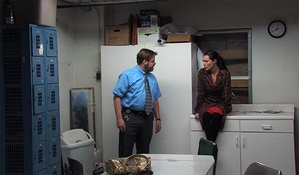 "Scott Cordes and Vanessa Severo perform a scene from ""Blackbird."""