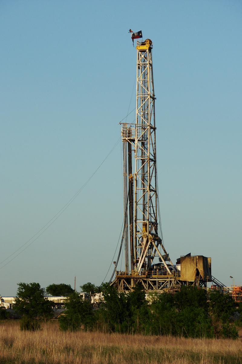 Gas-drilling rig
