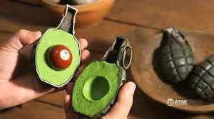 "Deceptive hand grenade  in Oscar-nominated animated film ""Fresh Guacamole"""