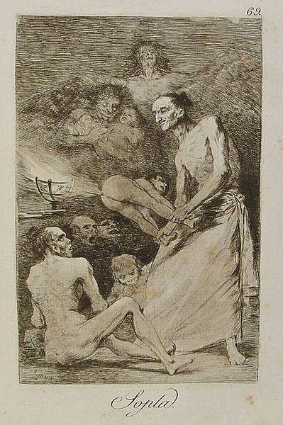 Sopla (Blow), from  Los Carichos, Plate 69, 1799