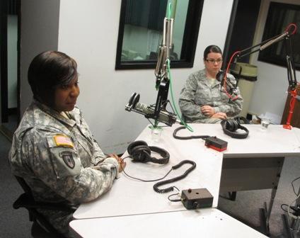 Sgt. Nicole Davis (L) and Senior Airman Stephanie Holt