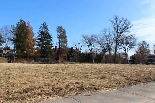 The site of the former Donaldson House, February 2013.