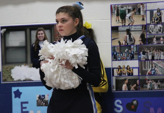 Emily Echlin prepares to cheer.