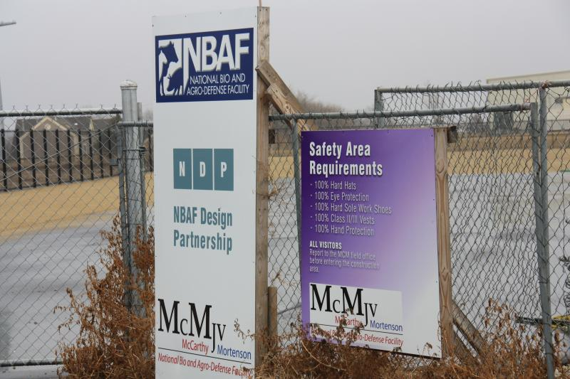 The NBAF site in Manhattan will change for the first time in years if construction begins on an electric plant.