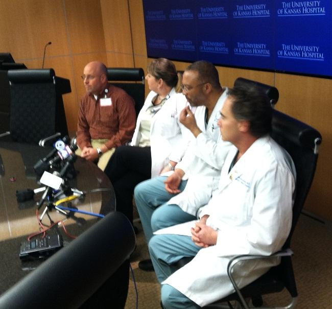 University of Kansas Hospital officials provided an update.