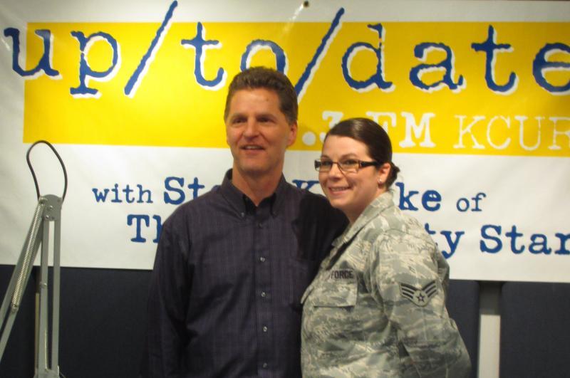 Steve Kraske and Sr. Airman Stephanie Holt