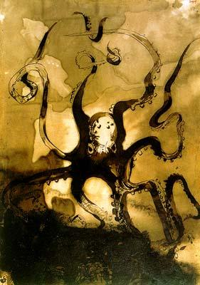 Octopus with the Initials VH, circa 1866