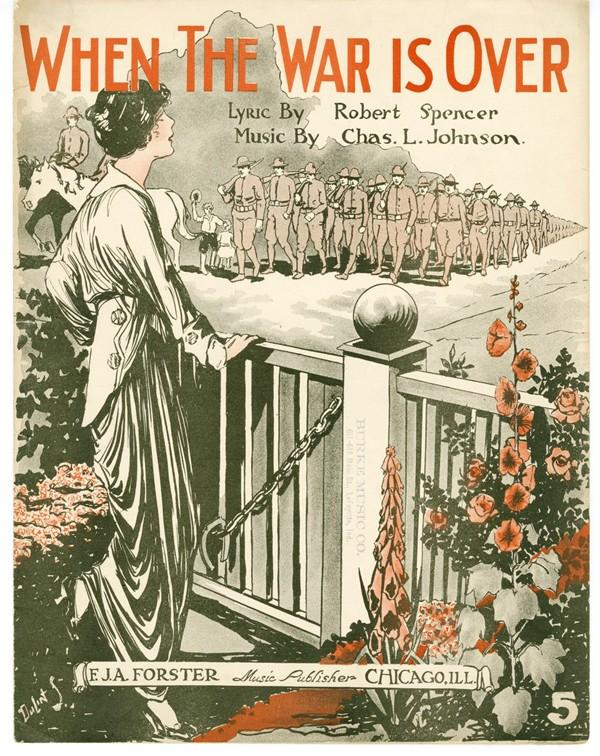 "Sheet music for ""When the War Is Over"""