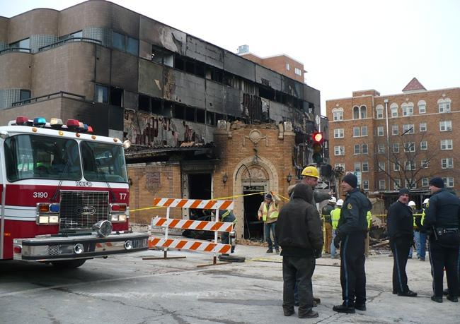 The site of JJ's after the explosion.