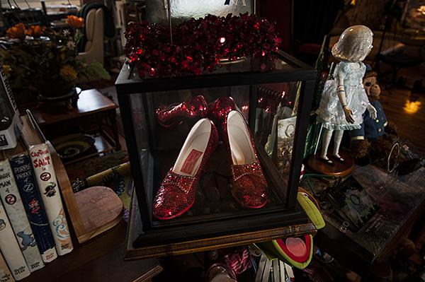Ruby red slippers are a popular item in Oz memorabilia collections.