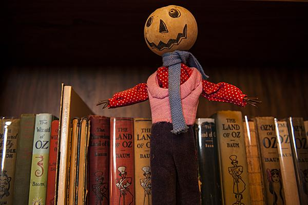 A figure with a jack-o-lantern head named Jack Pumpkinhead is a character from 'The Marvelous Land of Oz.'